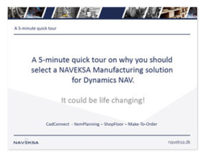 Download 5 minutes presentation of NAVEKSA products