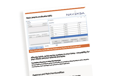 Brochure - Batch, Serial & Lot Allocation