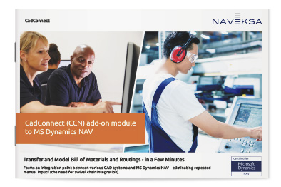 Download brochure 'CadConnect add-on module to MS Dynamics NAV'
