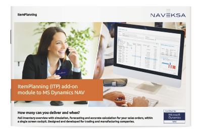 Download brochure 'ItemPlanning add-on module to MS Dynamics NAV'