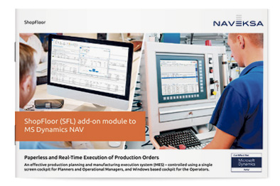 Download brochure - ShopFloor add-on module for MS Dynamics NAV