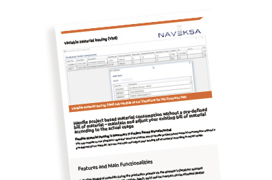 Brochure - Variable Material Issuing